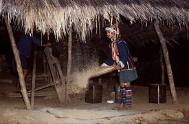 Akha girl daily life
