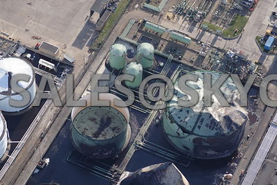 Buncefield Oil Depot Disasterous Fire on the 11th of December 2005 Aerial photographs