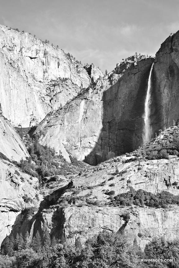 YOSEMITE FALLS YOSEMITE NATIONAL PARK CALIFORNIA BLACK AND WHITE