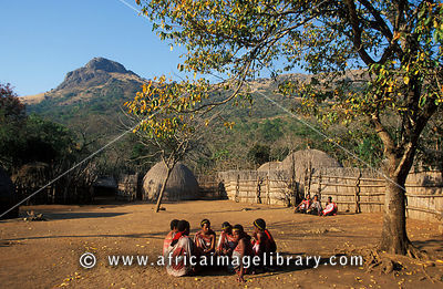Mantenga village with traditional beehive huts, Swaziland
