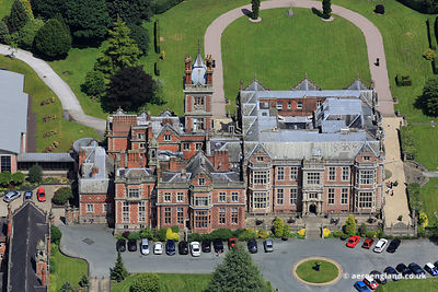 aerial photograph of Crewe Hall   Crewe Cheshire Great Britain  UK
