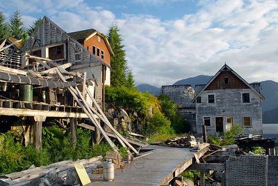 Butedale ghost town, Great Bear Rainforest, British Columbia
