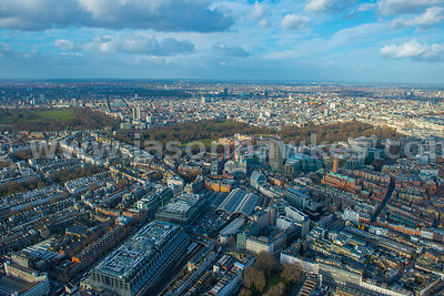 Aerial view of Victoria, London