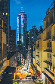 central of Hong Kong at night