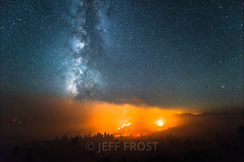 Wildfire + Stars time lapses