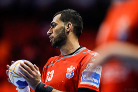 Iman Jamali during the Final Tournament - Final Four - SEHA - Gazprom league, Bronze Medal Match Meshkov Brest - PPD Zagreb, Belarus, 09.04.2017, Mandatory Credit ©SEHA/ Stanko Gruden..