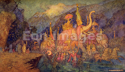 The Return of the Heroes Slain in Battle by Warwick Goble