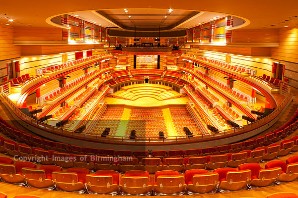 Symphony Hall auditorium, Centenary Square, Birmingham City Centre, West Midlands, England, UK