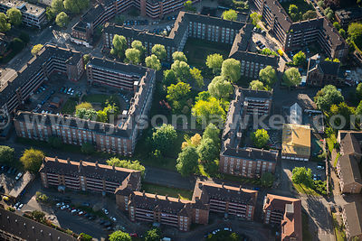 Aerial view of the Rockingham Estate, London