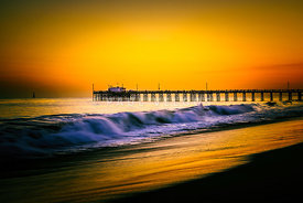 Balboa Pier Picture at Sunset in Orange County California