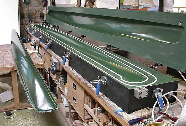 The ROCAT hull mould with the first hull - a certain amount of jubilation accompanied its demoulding