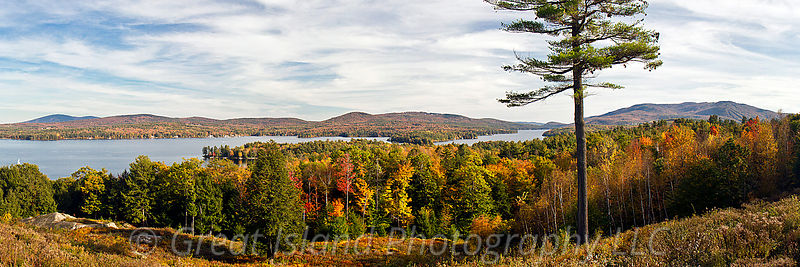 Mt Sunapee & Lake Sunapee in Autumn