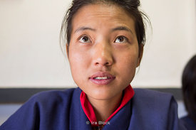 A student at Institute of Thirteen Arts and Crafts in Paro, Bhutan.
