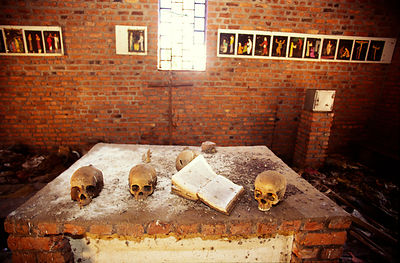 The church at Ndera, Rwanda that is now a national monument to those who were murdered inside by Hutu militias during the 1994 genocide