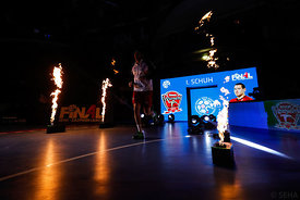 Istvan Schuch during the Final Tournament - Final Four - SEHA - Gazprom league, Telekom Veszprém - Meshkov Brest in Brest, Belarus, 07.04.2017, Mandatory Credit ©SEHA/ Stanko Gruden