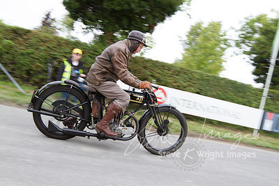 Chris Lewis on a vintage AJS Big Port (350cc, 1925) - Kop Hill Climb 2013