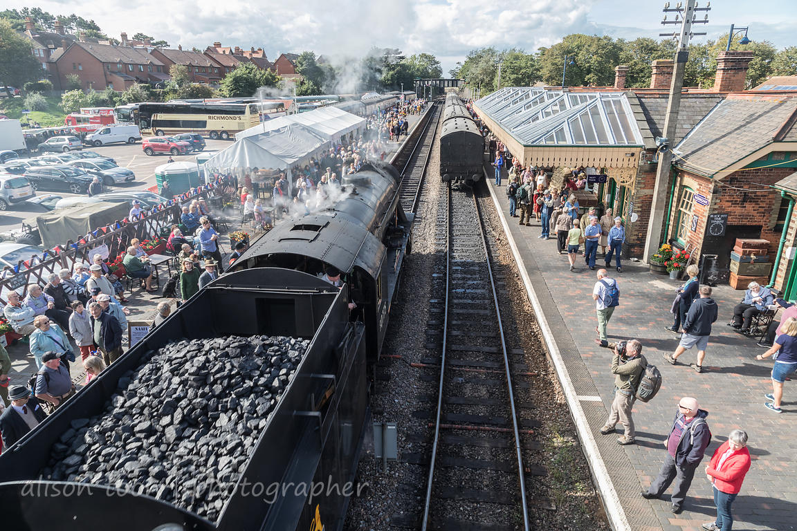 Steam train, 1940's Weekend, Sheringham, Norfolk