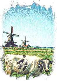 Windmills_cow_pastel