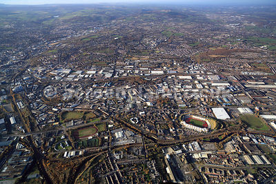 aerial photograph of Attercliffe  Sheffield Yorkshire