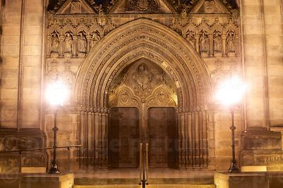 Main Entrance Doors of St Giles Cathedral by Night