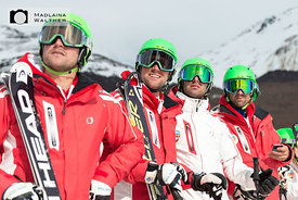 Part of the Swiss Snow Demo Team Ski.
