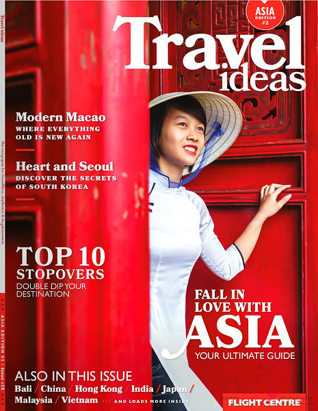 Cover travel ideas brochure Flight Centre Asia