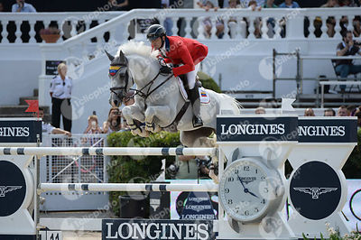 Andres RODRIGUEZ ,(VEN), DARLON VAN GROENHOVE during Longines Cup of the City of Barcelona competition at CSIO5* Barcelona at Real Club de Polo, Barcelona - Spain