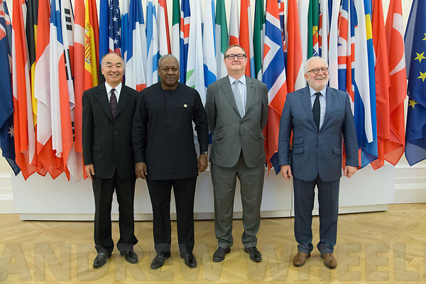 John Dramani Mahama, President of the Republic of Ghana, visits the OECD photos