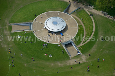 Aerial view of the Regent's Park Hub, Regent's Park, London
