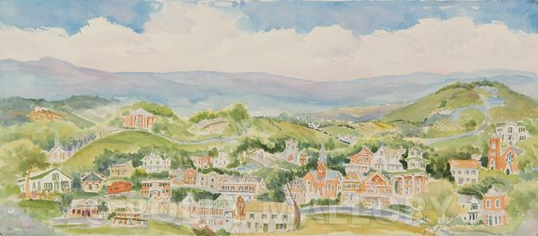 Cover Art, Abingdon,  a Sketchbook by Carole Farris Blevins