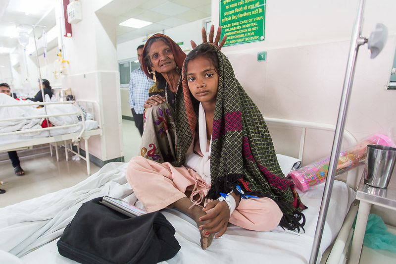 We helped Eraki with surgery after a badly broken arm, avoiding deformity