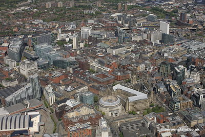 Manchester City Centre birds eye view