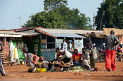 Busy border town of Bumala in Kenya, near the border with Uganda.