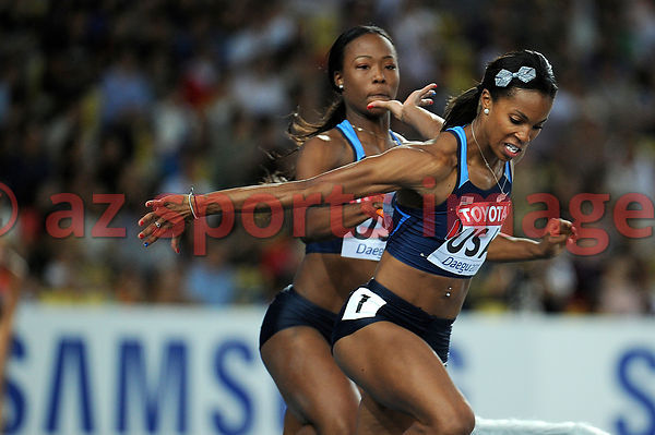 4x100 women's USA Team at the 2011 IAAF World Championships,Athletics,Daegu,S.Korea