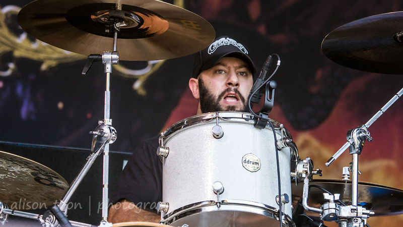 Pepe Clarke, drums, Kyng, Aftershock 2014