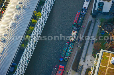 Aerial view of Canal, Hoxton, London