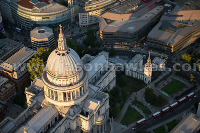 Aerial view of St Paul's Cathedral, London