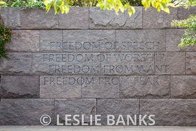 The Four Freedoms in the FDR Memorial