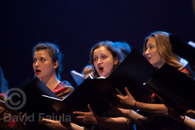 Choir Of The Collegium Medicum (Bydgoszcz, Poland) during the Saturday performance of Cantonigròs International Music Festival (2017 edition)