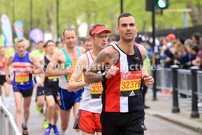 Chris Mickleburgh, running in the London Marathon