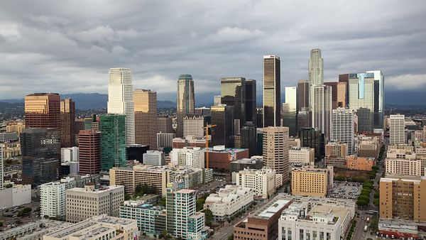 Bird's Eye: L.A. Skyline Under A Dramatic Cloud Deck