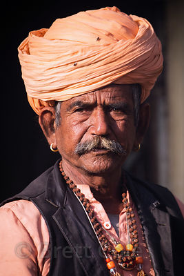 Portrait of a priest, Budha Pushkar, Rajasthan, India
