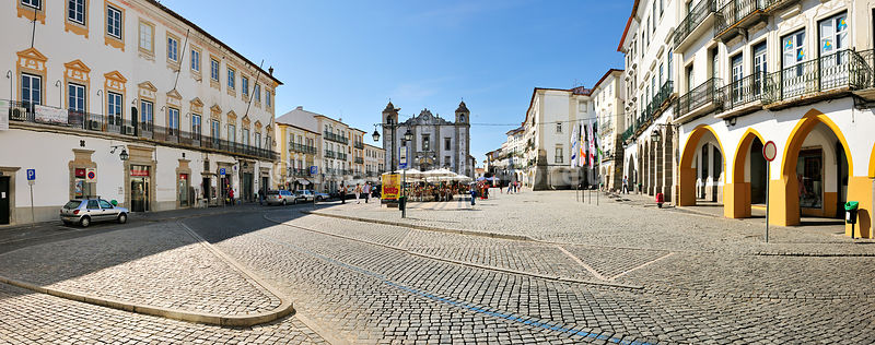 Praça do Giraldo, a Unesco World Heritage Site. Évora, Portugal