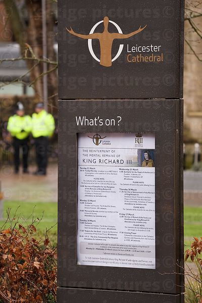 Whats On Notice declaring a Medieval King's Burial!