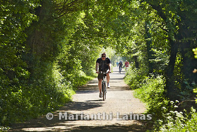 Cyclist on Wirral Way