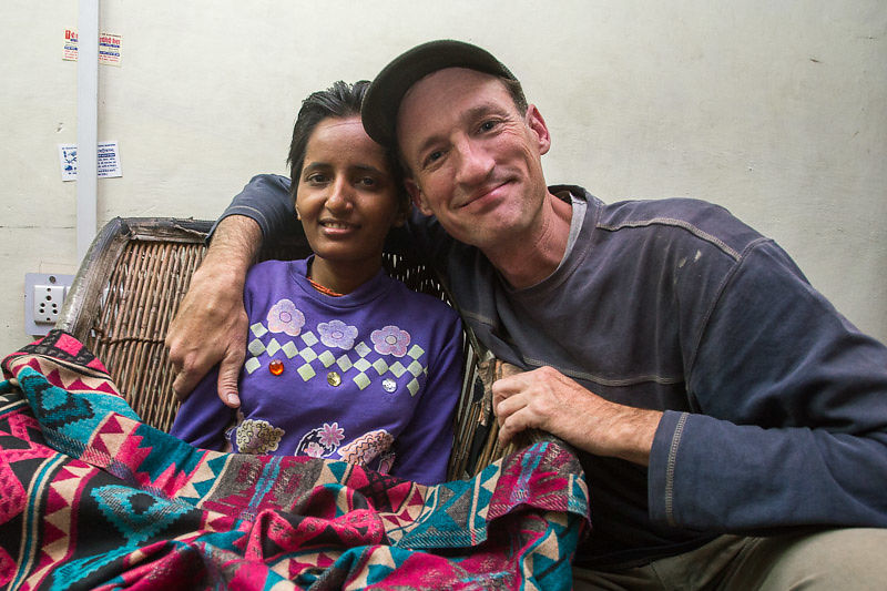 We've supported Chanda, who is paralyzed from Diphtheria, for three years