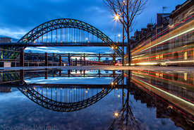 Tyne Bridge Reflections at Night