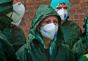 Emergency services training for chemical or nuclear contamination incident