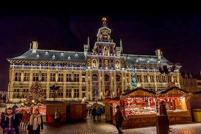 The square in front of the Stadhuis in Antwerp's old town plays host to Antwerp's best  Christmas Market