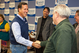 Santorum Visits Johnson County, October 20, 2012